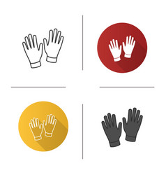 medical or household gloves icon vector image