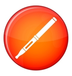 Mod and clearomizer in the kit icon flat style vector