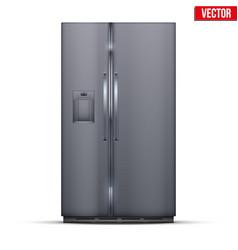 Modern fridge freezer refrigerator vector