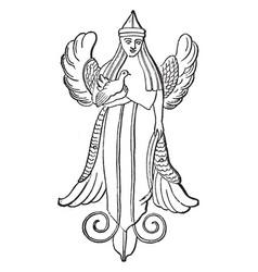 Nana the phoenician astarte vintage vector