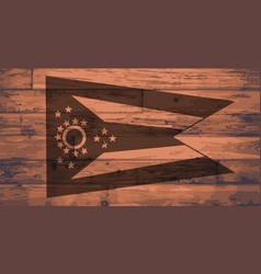 Ohio flag brand vector
