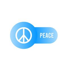 peace icon peace symbol minimal design vector image