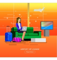 People in airport waiting hall vector