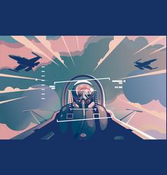 pilot 2 vector image