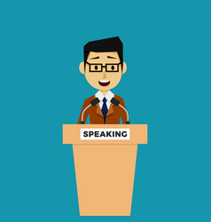 public speaker politician on the tribune vector image