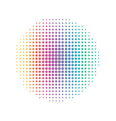 rainbow circular dot line abstract and colorful vector image