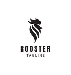 Rooster logo head logo vector