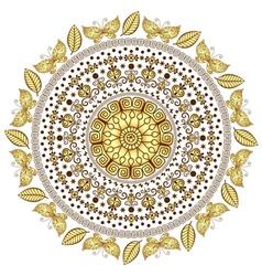 Round vintage pattern vector