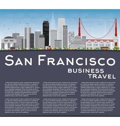 San Francisco Skyline with Gray Buildings vector image