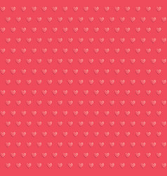 seamless hearts polka dot red pattern vector image