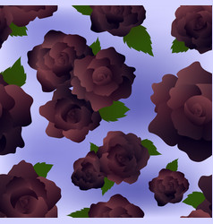 seamless pattern - black roses on lilac background vector image