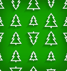 Seamless pattern of christmas tree vector