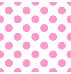 seamless pattern with pink polka dots on a white vector image