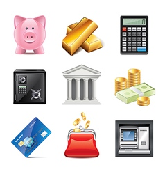 set bank vector image