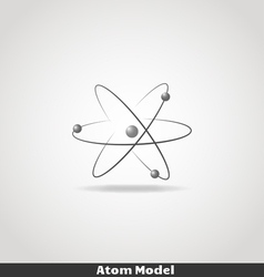 Simple atom icon copy vector image