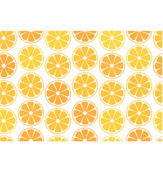 Simple seamless pattern citrus vector