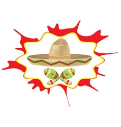 Sombrero and Maracas6 vector image