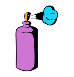 Spray can in use icon icon cartoon vector