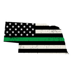 State nebraska military support american flag vector