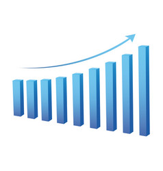 statistic graph business data vector image