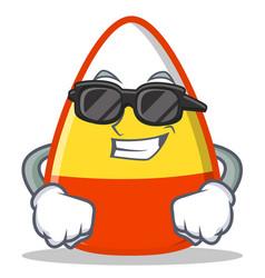 super cool candy corn character cartoon vector image