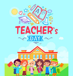 Teachers day promotional vector