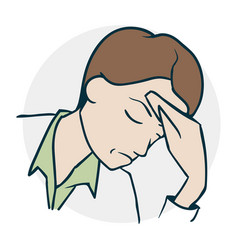 the person headache vector image