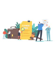 Tiny characters read corporate compliance rules vector