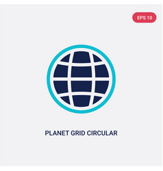 Two color planet grid circular icon from army vector