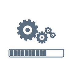 update system icon loading process modern vector image