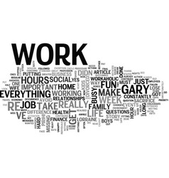 why are you so busy text word cloud concept vector image