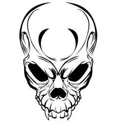 wicked skull vector image