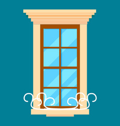 window isolated element in flat design vector image