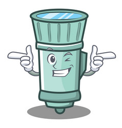 Wink flashlight cartoon character style vector