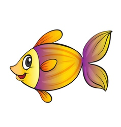 yellow fish vector image