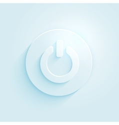 Abstract paper style power button icon switch off vector