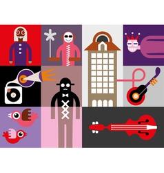 Music festival banner vector
