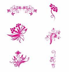 Pink flower Floral vector image vector image