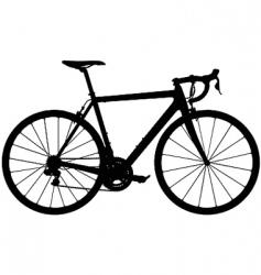 road racing bike silhouette vector image vector image