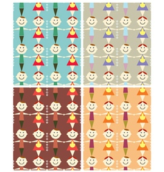 seamless children pattern vector image vector image