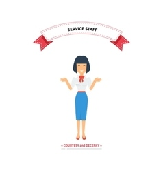 Service Staff Woman Design Flat vector image