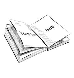 Sketch of sketchbook with vector image