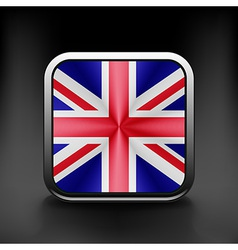 UK icon flag national travel icon country symbol vector image vector image
