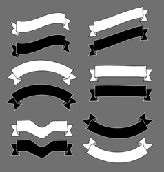 Vintage ribbons and banners design sketch vector image