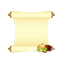 xmas manuscript isolated vector image vector image
