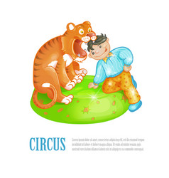 Bright of circus performance vector