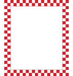 red checkered frame - design element for christmas vector image