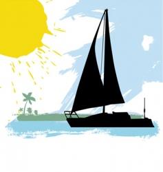 sailing boat vector image vector image