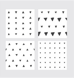 set with hand drawn seamless patterns in black and vector image vector image