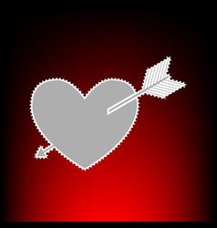 arrow heart style vector image